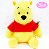 小熊維尼絨毛娃娃玩偶坐姿蜜蜂款 162683【77小物】