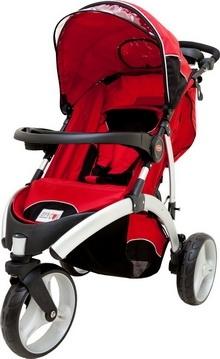 [ 家事達 ] 欣康SYNCON-TS03500- 歐式風格三輪推車-紅色 特價