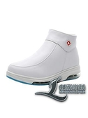 雪靴女氣墊加絨軟底冬季棉鞋透氣防臭白色短靴【邻家小鎮】