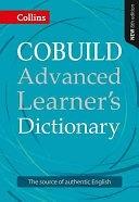 二手書博民逛書店 《Collins COBUILD Advanced Learner s Dictionary》 R2Y ISBN:0007580584