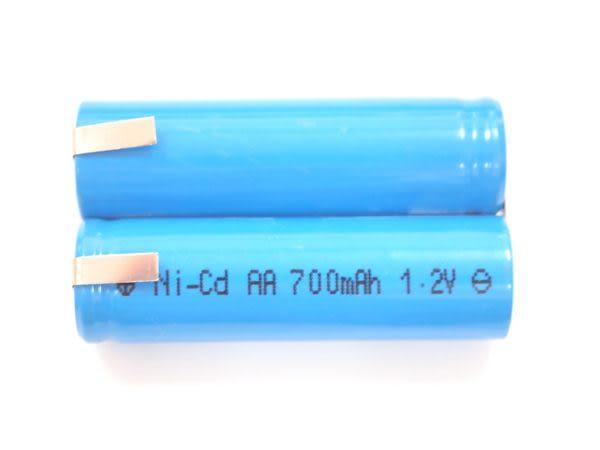 全館免運費【電池天地】2P-700AA 700mah 2.4V 鎳鎘充電電池 工業用電池.特殊電池 (刮鬍刀.電剪用電池)