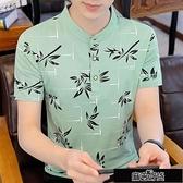 Polo衫短袖 Polo衫男士短袖男t恤立領大碼潮流韓版男生體恤衫男裝新款上