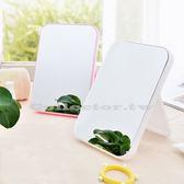 韓國創意台式簡易便攜梳妝鏡 可愛折疊化妝鏡 公主鏡 桌面美容鏡