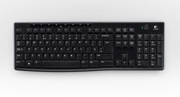 羅技 K270 無線鍵盤 不論何處使用鍵盤都能體驗可靠的無線技術