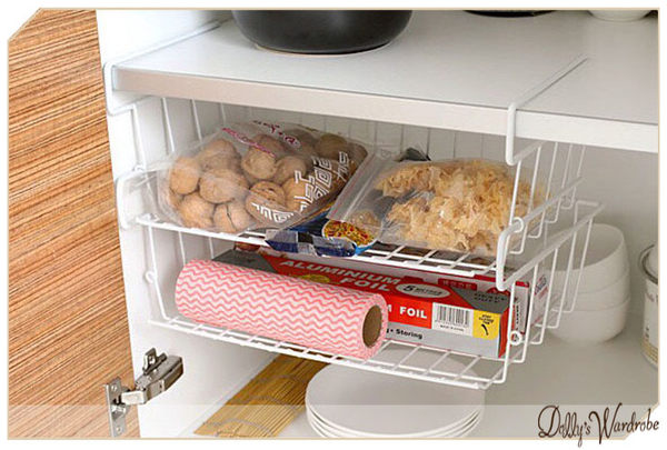 ☆Dolly生活館*╮廚房可連接串聯收納置物架/桌下掛籃/金屬文件籃/冰箱收納籃/衣櫃收納籃 20691