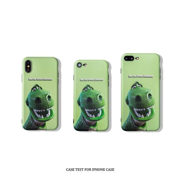 🍏 iPhone11ProMax 蘋果手機殼 可掛繩 美式復古 搞笑綠恐龍 iX/i8/i7/i6/6sPlus