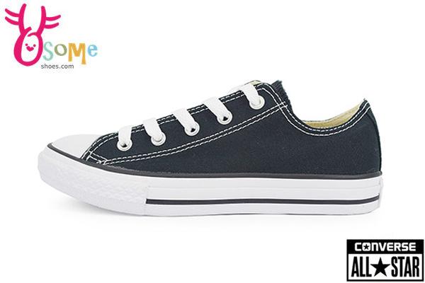 Converse帆布鞋 中童 基本款低筒帆布鞋G9806#黑◆OSOME奧森鞋業