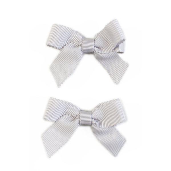 美國 Ribbies Clippies 經典蝴蝶結2入組-灰色