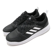 adidas 慢跑鞋 Tensaur K 黑 白 女鞋 童鞋 大童鞋 中童鞋 基本款 運動鞋 【ACS】 EF1084