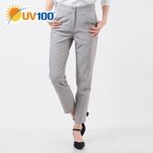 UV100 防曬 抗UV-極簡舒柔調節腰頭褲-女