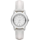 DKNY 純白魅力皮革腕錶-白- NY8638