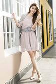 春夏↘7折[H2O]五分袖顯瘦輕飄雪紡氣質風格洋裝 - 粉/淺藍色 #8674019