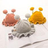 嬰兒帽子秋冬3-6-12個月女寶寶帽子公主帽加棉荷葉邊男女童毛線帽 【格林世家】