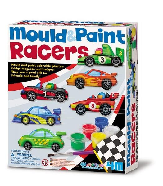 【4M】03544 美勞創作-極速賽車 製作磁鐵 Mould & Paint Racers