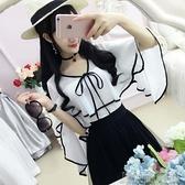 娃娃領上衣白色荷葉邊小清新雪紡衫女韓版防曬衣夏季新款氣質寬鬆上衣 快速出貨