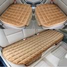 汽車坐墊冬季毛絨無靠背三件套防滑免綁保暖座墊單片汽車用品
