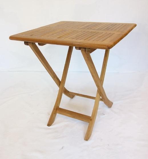 【南洋風休閒傢俱】戶外餐桌椅系列-70公分柚木方折桌 實木折合桌  戶外野餐桌 (#071T)