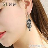 耳環個性韓國氣質長款女流蘇百搭耳墜飾品短發耳飾手工耳掛205  依夏嚴選