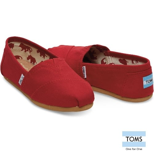 TOMS 帆布經典懶人鞋-女款(001001B07 RED)