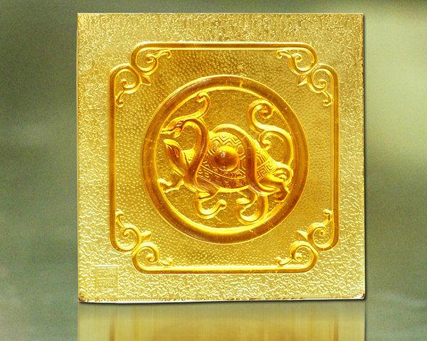 鹿港窯~居家開運琉璃磚【四象之玄武】附古法製作珍藏保證卡◆免運費送到家