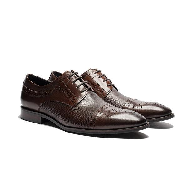 Waltz-真皮商休紳士鞋212565-23咖