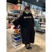 HURLEY|男HRLY OAO PONCHO海灘罩衫-黑(浴巾衣)
