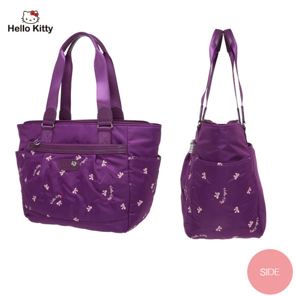 Hello Kitty -  圓舞曲-大托特包 (紫色)
