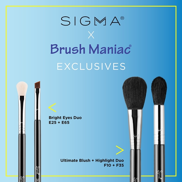Sigma X Brush Maniac 全球聯名獨賣 Bright Eyes Duo + Ultimate Blush + Highlight Duo 眼刷雙頰四入組