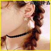 【YPRA】耳環 耳夾無耳洞女耳飾韓國簡約清新耳釘長款式耳墜