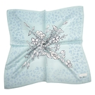 NINA RICCI典雅花卉圖騰絹絲綿領帕巾(湖綠色)989028-F