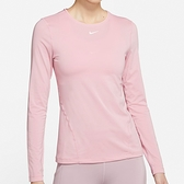 Nike AS W NP Top LS All Over Mesh 女 粉 訓練 運動 慢跑 長袖 AO9950-630