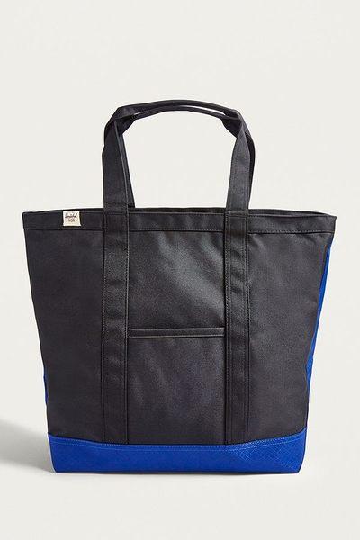 Hsin 8折 現貨 Herschel Bamfield 中型 Tote 黑色 水藍 拉鍊 帆布 手提 肩背 托特包