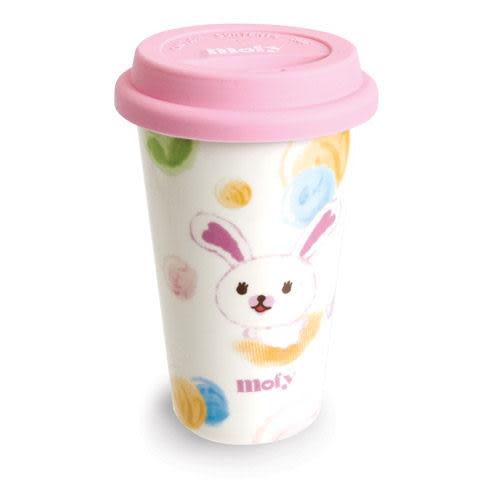 ★funbox生活用品★《Semk》Mofy 棉花小兔陶瓷隨手杯(粉彩泡泡) SE73661