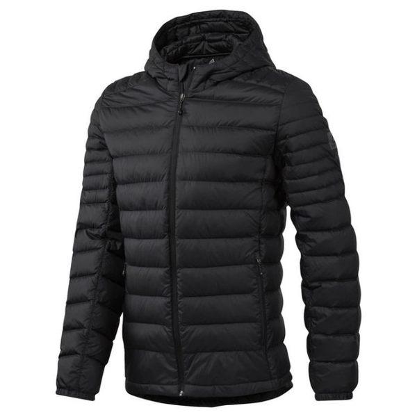 REEBOK Outdoor Down Jacket 男裝 外套 連帽 羽絨 輕量 保暖 舒適 黑【運動世界】CD7941