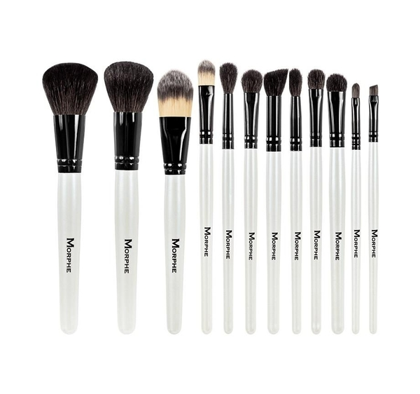 【愛來客 】Morphe BLACK AND WHITE 12-PIECE TRAVEL SET 黑白12件旅行刷具組