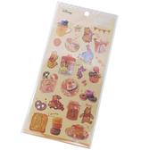 Kamio 造型鐳射光貼紙組 裝飾貼 手帳貼 迪士尼 小熊維尼 甜點 黃_KM23921
