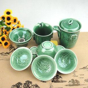 特價 高檔活瓷茶具 龍泉青瓷 蓮花