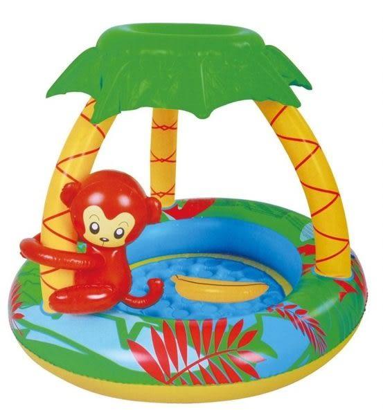 *粉粉寶貝玩具*親親系列jilong-夏日樂園森林小猴游泳池/造型充氣泳池~超Q版