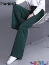棉麻褲 闊腿褲女高腰垂感春夏薄款2021寬鬆直筒冰絲棉麻休閒拖地長褲顯瘦 618狂歡
