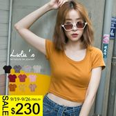 LULUS-Y基本素面圓領短版T恤-10色  現+預【01017832】