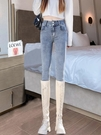 淺色牛仔褲女夏春秋2021年新款高腰顯瘦緊身彈力小腳女士鉛筆褲子 黛尼時尚精品