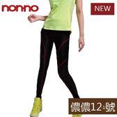 【non-no儂儂褲】運動壓縮褲(線條)-26085