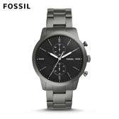 FOSSIL Townsman 煙灰色低調大錶徑不鏽鋼錶 男