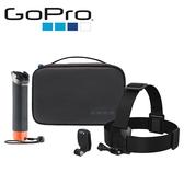 ◎相機專家◎ 免運 GoPro HERO 探險套件 含漂浮手把 快拆頭部綁帶 收納盒 帽夾 AKTES-001 公司貨