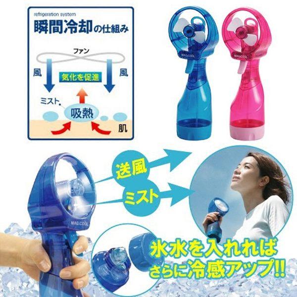 手持式噴水風扇 冰酷迷妳噴霧風扇 可加冰空調扇 涼爽冷風電風扇 全館免運