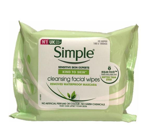 英國進口 Simple Cleasing facial wipes 臉部卸妝棉