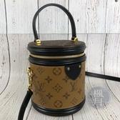 BRAND楓月 LOUIS VUITTON LV M43986 CANNES 經典原花 雙色 圓桶包 手提包 斜背包