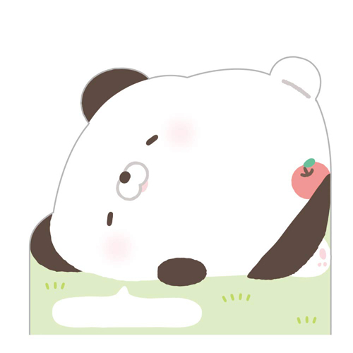 San-X 日本製自黏便箋 造型便利貼 Hamipa熊 生活日常 黃粉_XS74344