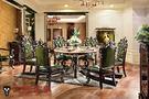 【大熊傢俱】RE808 新古典圓台桌 紅龍大理石面 鄉村風 歐式餐台 餐椅 靠背椅  方桌 餐桌 雕花面