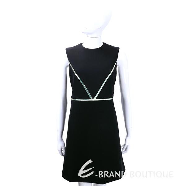 SI-JAY 黑色拼接條紋無袖洋裝 1540059-01
